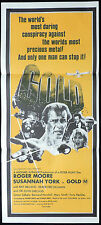 GOLD Roger Moore Susannah York VINTAGE Daybill Movie poster Ray Milland