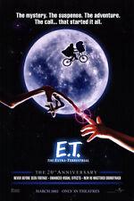 E.T. EXTRA TERRESTRIAL MOVIE POSTER 20th ANNIVERSARY Advance 27x40