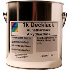Kunstharz Lack, Alkydharz Lack, RAL 1015 Hellelfenbein glänzend, Lack, 3 Liter
