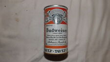 Vintage Budweiser Tab Top Beer Can Steel an