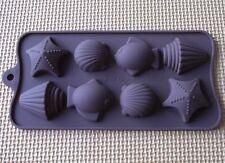 Cake Mold Soap Mold Sea Shell Fish Flexible Silicone Mould For ice lattice tray
