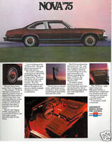 1975 Chevrolet Nova and Chevy SS 16-page Original Car Sales Brochure Catalog