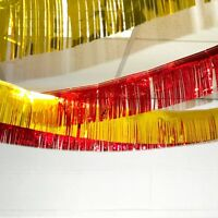 18ft Foil Fringe Garland Party Ceiling Decoration - Choose Colour From List