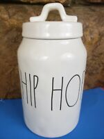 """Rae Dunn Artisan Collection by Magenta  """"HIP HOP"""" Canister-Ivory color Preowned"""
