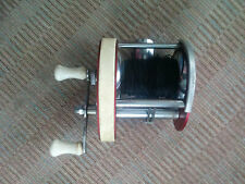 Vintage Rare Shasta No. 710 Red Casting Fishing Reel Collectible Red Burgandy