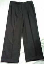 NEIMAN MARCUS MEN'S DRESS PANT DARK GREY COLOR 100% WOOL SIZE 34X30 PLEATED CUFF