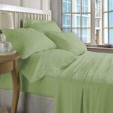ZECOTT 100% Cotton Sheet Set Queen-Celdon Green Sheet Sets Queen Size-600 Thread