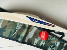 Combo Pack English Willow Cricket Bat+Free Ceat Sticker+Leather Bal+Toe Guard