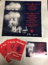 53rd Presidential Inaugural Fireworks Ticket cards Pre-Event Passes Lot