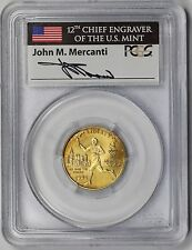 1995-W Torch Runner Gold Modern Commemorative $5 MS 69 PCGS Mercanti Signature