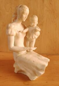 Russian Ukrainian Soviet author's sculpture bust statue mother child realism