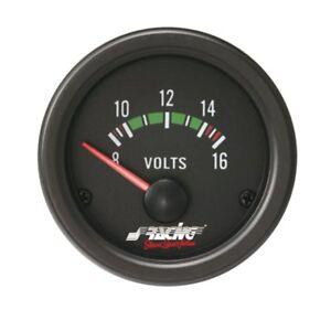 Voltmetro Elettrico Silver Line SIMONI RACING BLACK LINE Retroilluminato Auto