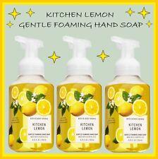 3 Bath & Body Works - KITCHEN LEMON Gentle Foaming Hand Soap SET LOT Ship Today