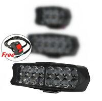 Universal 165mm 12V 24W LED Motorrad Fernscheinwerfer Nebelleuchte mit Schalter