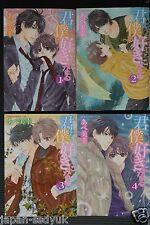 JAPAN Miyuki Abe manga: Kimi ha Boku o Suki ni naru 1~4 Complete Set