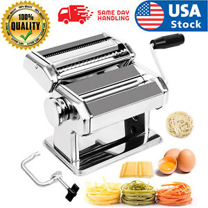 Stainless Steel Fresh Pasta Maker Roller Machine for Spaghetti Noodle Fettuccine