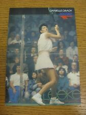 circa 1980's Squash: Danielle Drady, England - HI-TEC Promotional Card, Colour I