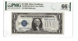 1928 $1 Silver Certificate - PMG66 EPQ - FR#1600 (Block HA) - Tate | Mellon