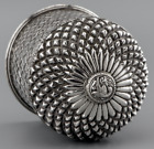 ANTIQUE South Asian INDIAN Silver Pretty Dressing Table Pot Diamond pattern