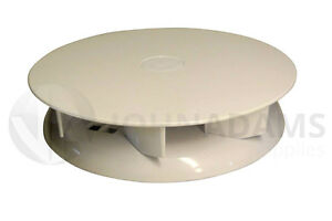 Wind Driven WHITE Roof Vent Low Profile Rotary Van Dog Pet Horse 4x4 Air Pickup