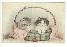 Unused CAT KITTENS Postcard Unsigned HELENA MAGUIRE ? A & M B No 748