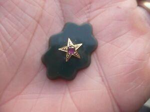 Pierre élément de bijoux ancien Jaspe Sanguin, Or massif 18 carats et Rubis