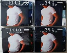 3 PACK POLO RALPH LAUREN CREW NECKS T-SHIRT CLASSIC 100% COTTON S M L XL 2XL