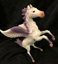 "Pegasus Purple & White With Glitter 10"" Rubber Figure Toy Major Trading Co 2014"