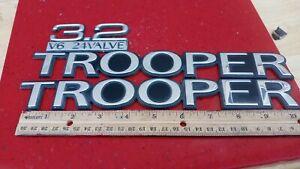 1993 - 1996 Isuzu Trooper LS 3.2L dohc v6  emblem badge nameplate Set OEM 3pc