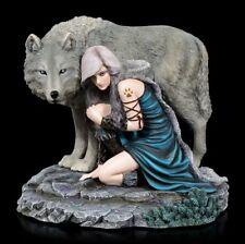 Wolf Figur - Protector by Anne Stokes - limitiert - Sammlerfigur Fantasy Gothic