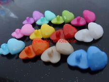 Lot Mix 300pcs Heart  shape plastic buttons sewing/scrapbook Baby Cute clothing