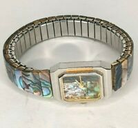 Mother Of Pearl Fashion Watch Stretch Band Japan Movement Stainless Steele