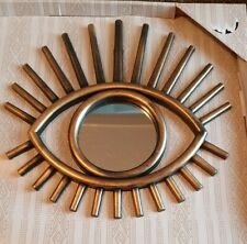 Dark Gold Tribal Eye See You Wall Round Mirror Hanging Decoration Decor