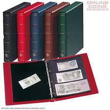 Leuchtturm 327926 Album Banknote of Bank Various Incl. 10 HOJAS Red