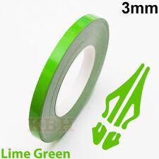 "3mm Self Adhesive Coachline Pin Stripe Vinyl Tape Craft Sticker 1/8"" LIME GREEN"