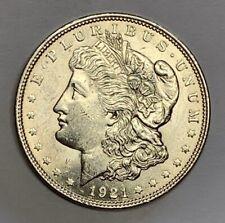 1921 Philadelphia Mint Morgan Dollar Die Breaks Brilliant Uncirculated