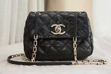 VERIFIED Authentic Chanel Quilted Leather Small Mini Crossbody Flap Bag