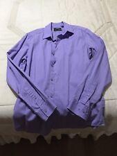 Mens Mexx Purple Dress Button Down Shirt Size Medium
