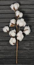"14"" Cotton Boll / Ball Stem Spray Pick Branch Set of 3 - 12 Bolls per Stem"
