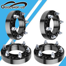 """4x 1.25"""" 6x5.5 12x1.5 HubCentric Wheel Spacers For 2000-2006 Toyota Tundra Black"""