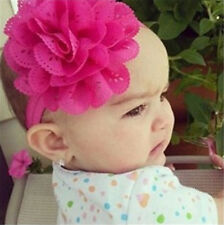 Baby Kid Girl Flower Hairband Soft Elastic Headband Hair Accessories Band Rose