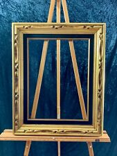 12 x 16 Wooden Frame- Gold with Black Velvet Lining