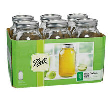 Ball 68100 Wide Mouth Mason Canning Jars, Half Gallon (64 Oz), Box Of 6