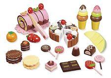 """Kaufladenzubehör """"Süßes"""" aus Holz von howa 4854"""