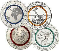 Deutschland 4 x 5 Euro Sammlermünzen-Set 2016 - 2019 Erde und Klimazonen