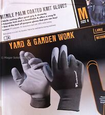 Wells Lamont Large Men's Nitrile Palm Coated Gloves Work Garden Mechanic 6 Pairs