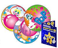 60 Scratch & Sniff Blowing Bubbles Bubblegum Scented Reward Stickers & Chart