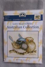 Baby Blue Wren cross stitch kit from DMC 9 x 7 cm on 18ct Ecru Aida