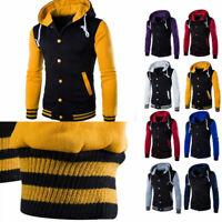 Winter Outwear Slim Hooded Hoodies Sweater Men's Coat Sweatshirt Warm Jacket