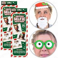 20Pc CHRISTMAS SELFIE PHOTO PROPS SET Antler Santa Party Picture Booth Disguise